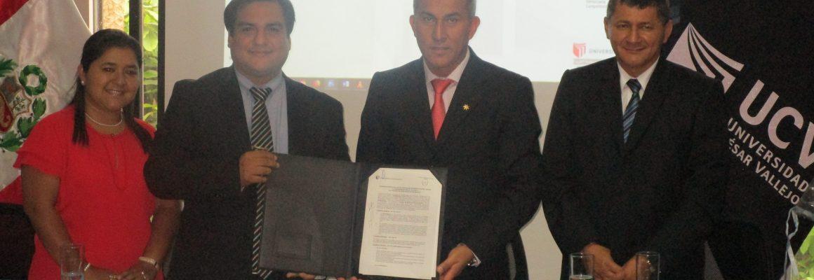 FIRMA DEL CONVENIO DE COOPERACIÓN INTERINSTITUCIONAL ENTRE LA UNIVERSIDAD CÉSAR VALLEJO Y EL COLEGIO DE ABOGADOS DE SAN MARTÍN