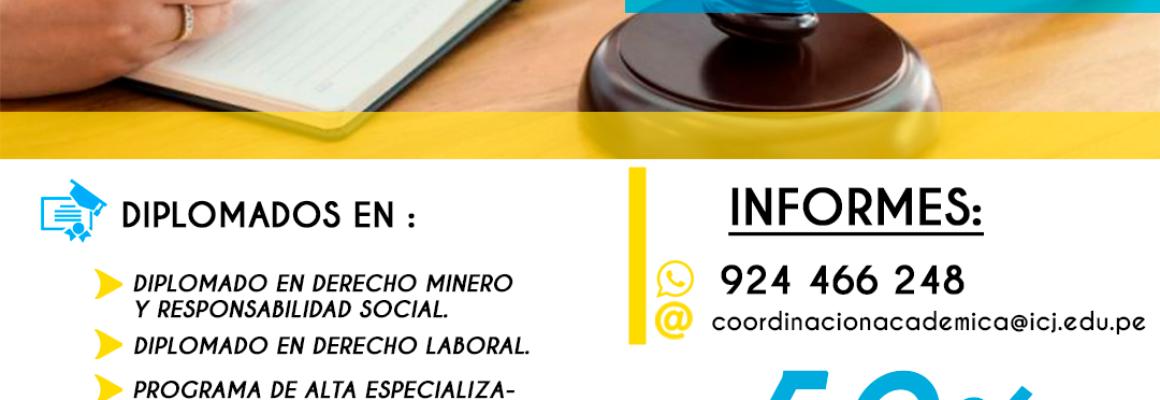 DIPLOMADOS EN EL INSTITUTO SUPERIOR TECNOLÓGICO DE CAPACITACIÓN JURÍDICA PARA NUESTROS AGREMIADOS.